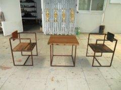 纯手工制作铁艺桌椅家具