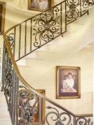 奢华铜楼梯栏杆定制