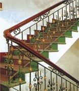 室内复古楼梯扶手