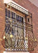 仿古铜铁艺防盗窗