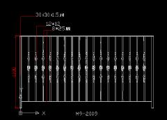 铁艺围栏CAD图