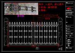 小区马钢铸造铁艺围栏CAD图