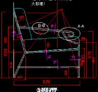 铁艺户外椅CAD图