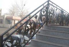 锻造户外欧式铁艺楼梯护栏