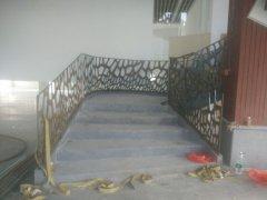 激光镂空铁艺楼梯扶手