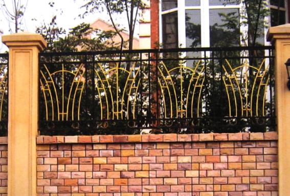 小区围墙杏彩入口